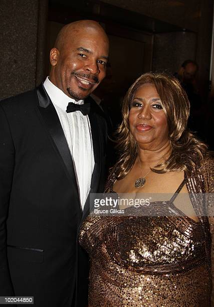 David Allan Grier and Aretha Franklin attend the 64th Annual Tony Awards at Radio City Music Hall on June 13 2010 in New York City