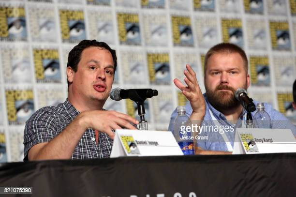 David Alpert and Robert L Rovner speak onstage during the Robert Kirkman's Secret History Of Comics panel at San Diego ComicCon International 2017 at...