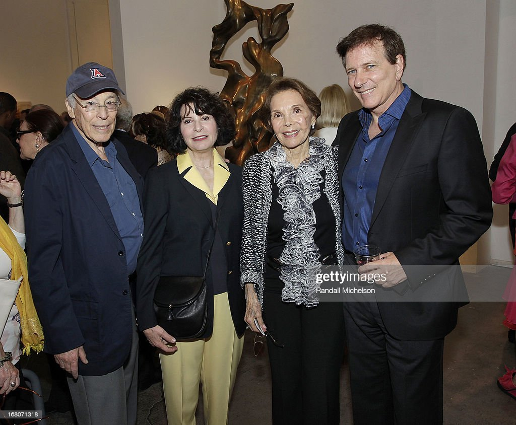 David Alpert, President of the Herb Alpert Foundation Rona Sebastien, Mimi Alpert and Rabbi David Baron attend the Herb Alpert Exhibition of Paintings and Sculpture at Bergamot Station on May 4, 2013 in Santa Monica, California.
