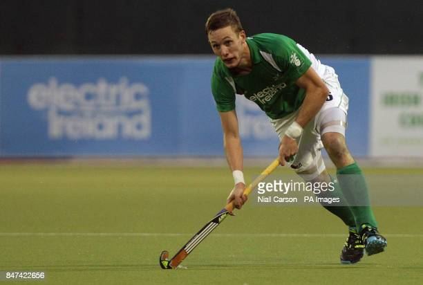 David Ames of Ireland in action during the FIH Olympic Games Qualifying Tournament at the Belfield Dublin PRESS ASSOCIATION Photo Picture date...