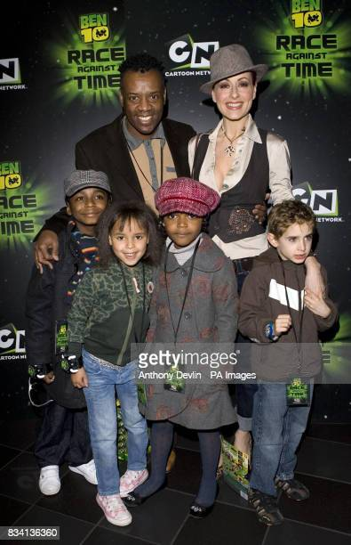 David and Carrie Grant and family arrive for the premiere of 'Ben 10 Race Against Time' at the Vue in Leicester Square London