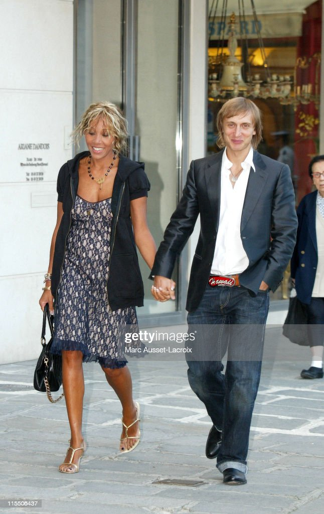 David and Cathy Guetta arrives at the Interior ministry Place Beauvau in Paris on August 30 2006 to attend a ceremony organized by French interior...