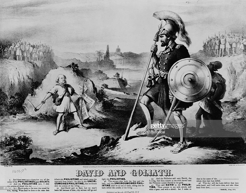 david and goliath illustration pictures getty images