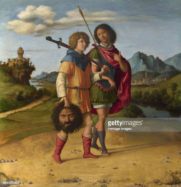 David and Jonathan c1508 Found in the collection of the National Gallery London