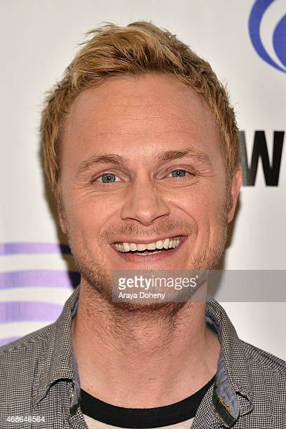 David Anders attends 'iZombie' Cast and Filmmakers press line at Anaheim Convention Center on April 4 2015 in Anaheim California