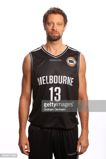 David Andersen of Melbourne United poses during the 2017/18 NBL Media Day at Crown Entertainment Complex on September 11 2017 in Melbourne Australia