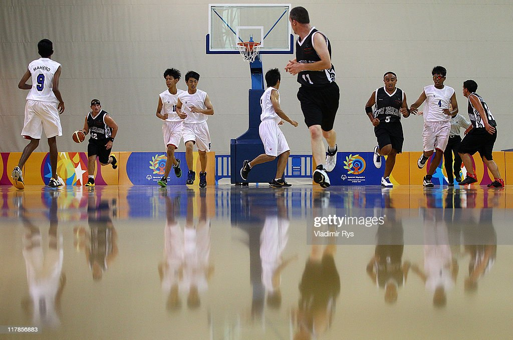 David Anderson of New Zealand competes during the basketball game between Singapore and New Zealand at the Athens 2011 Special Olympics World Summer Games on July 1, 2011 in Athens, Greece.
