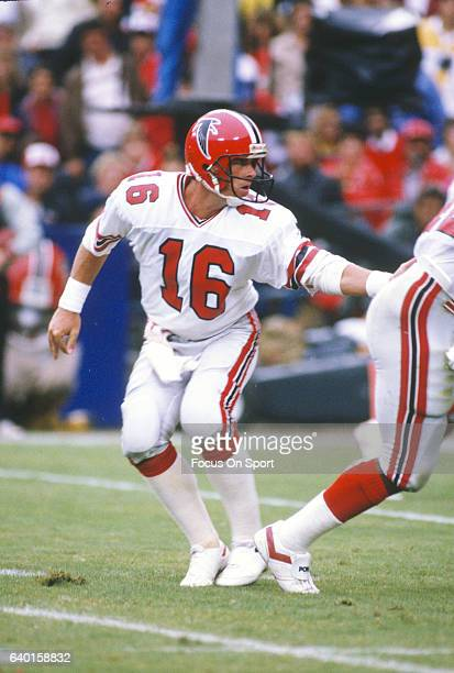 David Archer of the Atlanta Falcons in action against the Los Angeles Rams during an NFL football game October 12 1986 at AtlantaFulton County...