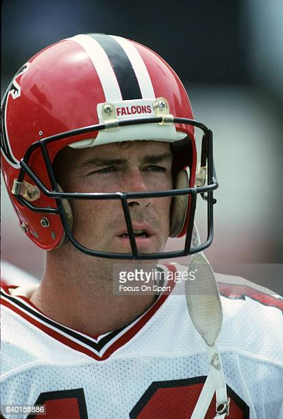 David Archer of the Atlanta Falcons looks on during an NFL football game circa 1987 Archer played for the Falcons from198487