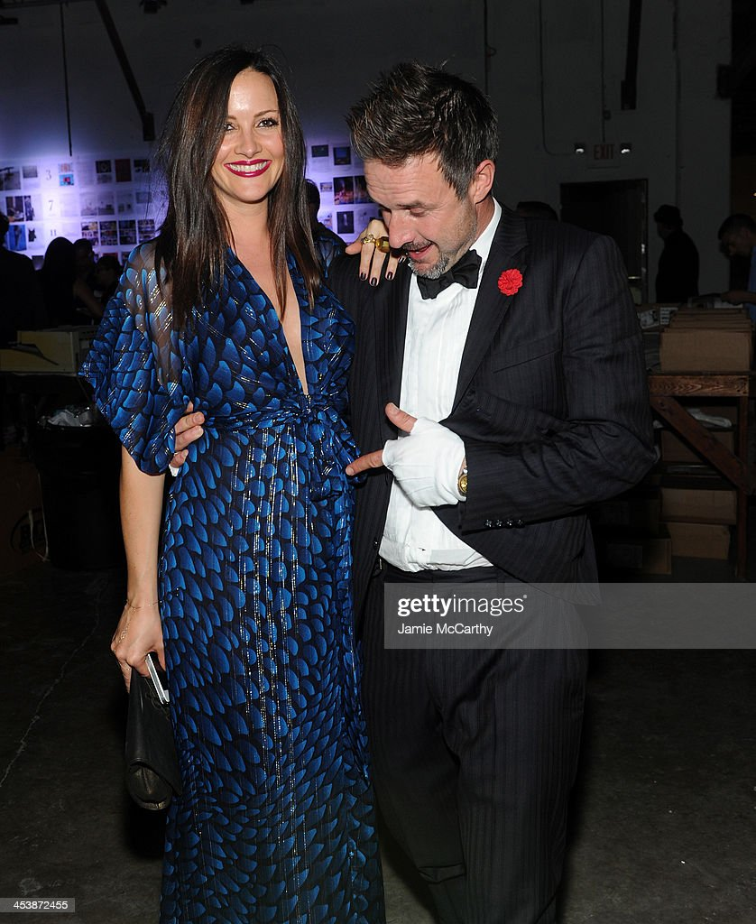 David Arquette and Christina McLarty attend Flaunt Magazine and Wildfox Present 'Hollywood Lawn' A Fire Poem Performance by Robert Montgomery at Mana...