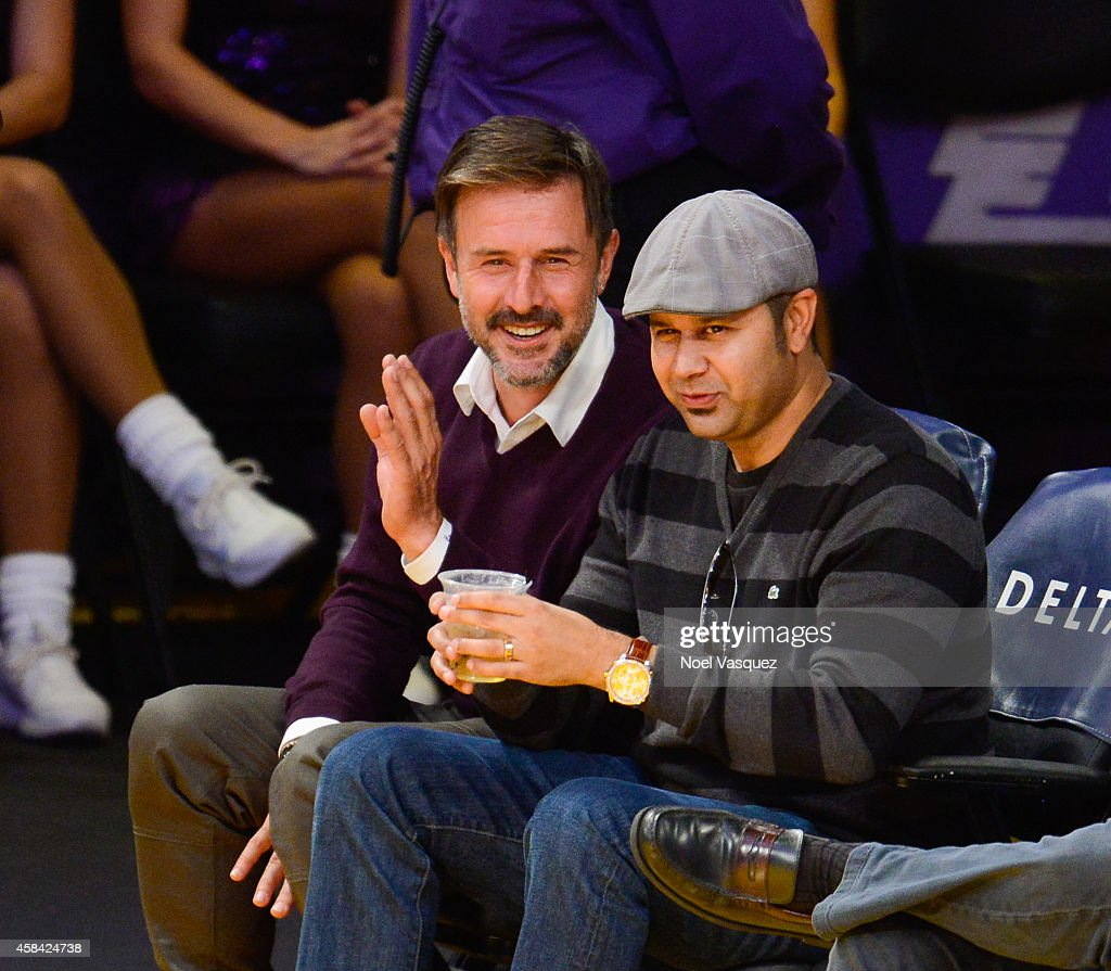 David Arquette attends a basketball game between the Phoenix Suns and the Los Angeles Lakers at Staples Center on November 4 2014 in Los Angeles...