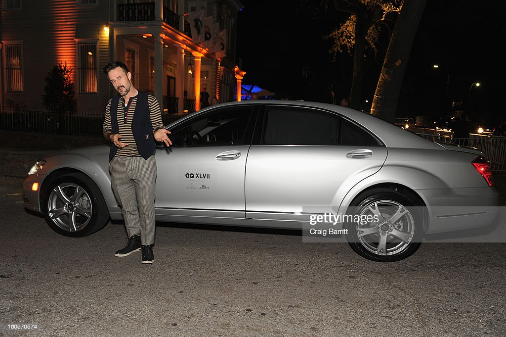 <a gi-track='captionPersonalityLinkClicked' href=/galleries/search?phrase=David+Arquette&family=editorial&specificpeople=201740 ng-click='$event.stopPropagation()'>David Arquette</a> attends the Mercedes-Benz/GQParty at The Elms Mansion on February 2, 2013 in New Orleans, Louisiana.