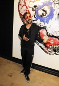 David Arquette attends the Robbie Conal 'Knuckleheads' Art and Kathy Rose Jewelry Show at Roseark on September 25 2012 in West Hollywood California