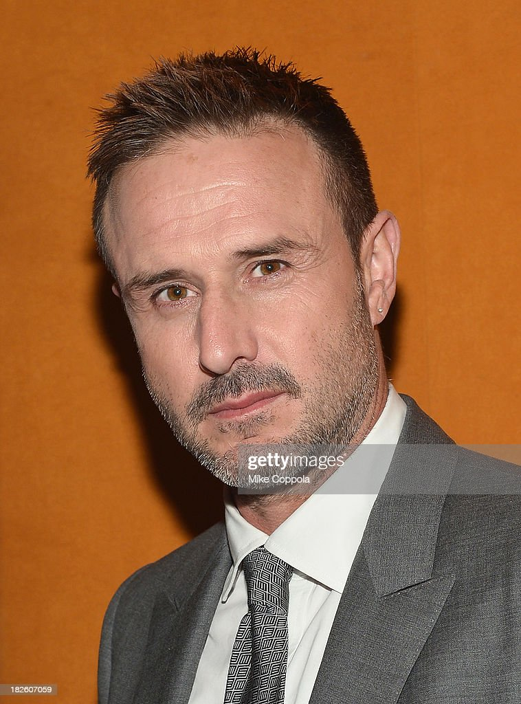 <a gi-track='captionPersonalityLinkClicked' href=/galleries/search?phrase=David+Arquette&family=editorial&specificpeople=201740 ng-click='$event.stopPropagation()'>David Arquette</a> poses for a picture before speaking on a Panel On Education In Anticipation Of Upcoming Series 'Dream School' on October 1, 2013 in New York City.