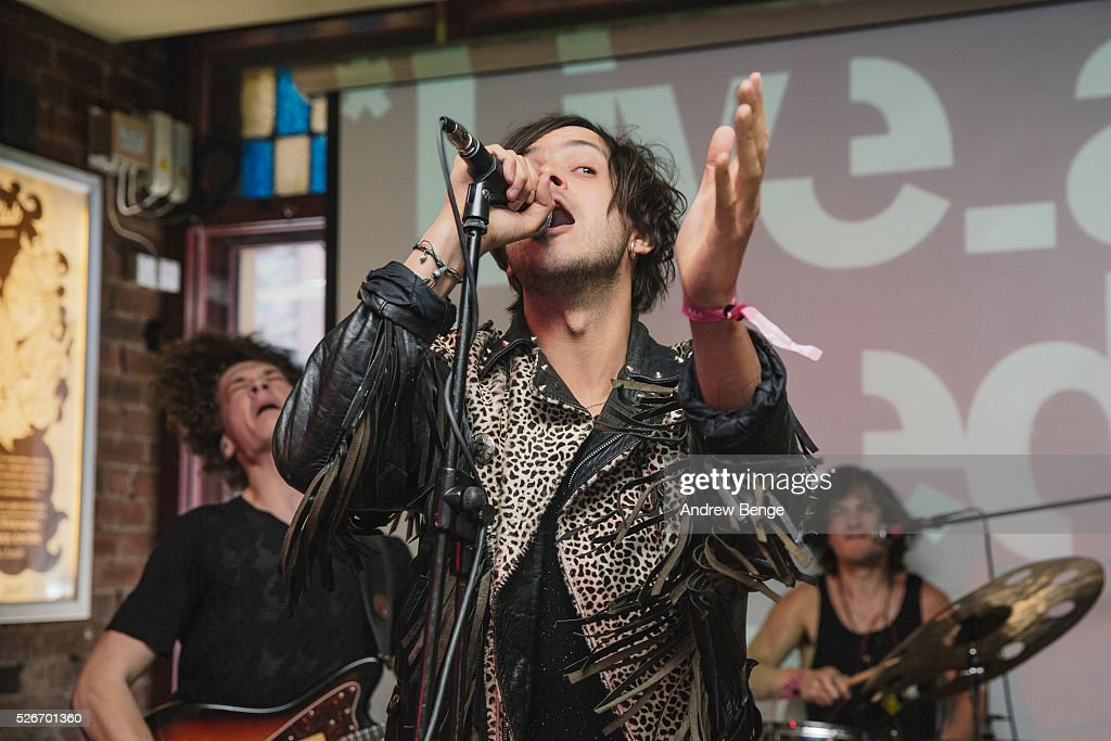 David Arthur Jr. of Face perform at Oporto during Live At Leeds on April 30, 2016 in Leeds, England.