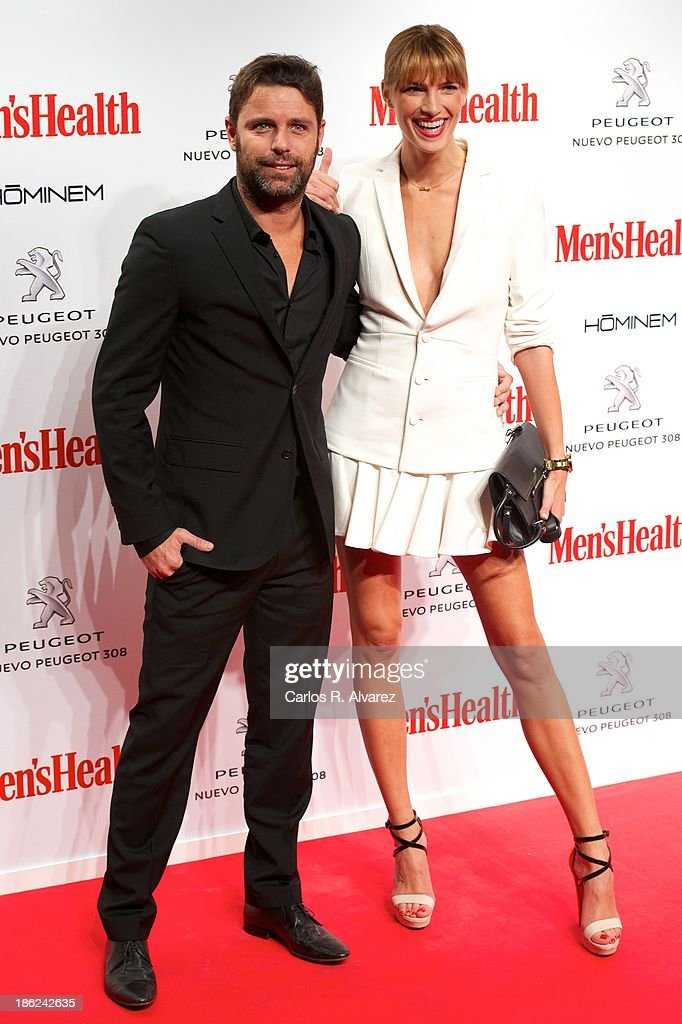 David Ascanio and Laura Sanchez attend Men's Health Awards 2013 at the Canal Theater on October 29, 2013 in Madrid, Spain.