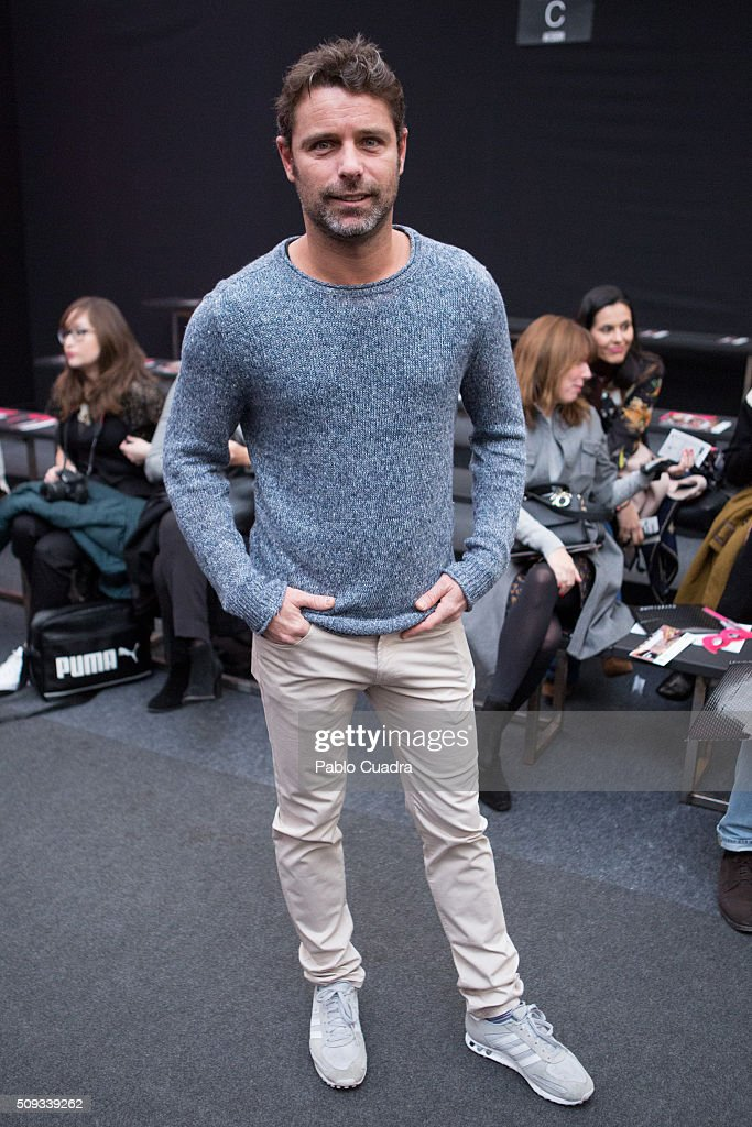 David Ascanio attends the Maybelline NY & Bloomers&Bikini Fashion Show during the MFShow on February 10, 2016 in Madrid, Spain.