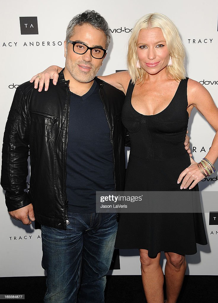 David Babaii and Tracy Anderson attend the opening of Tracy Anderson Flagship Studio on April 4, 2013 in Brentwood, California.