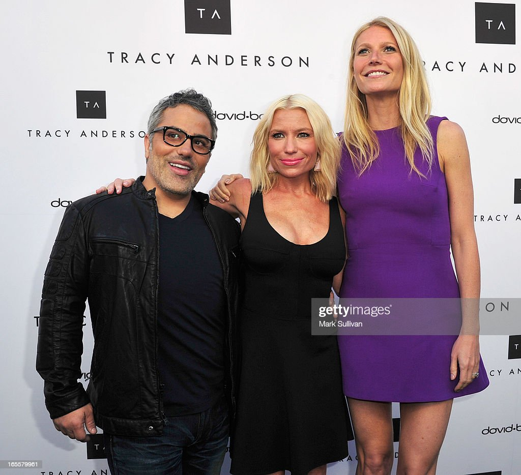 David Babaii, <a gi-track='captionPersonalityLinkClicked' href=/galleries/search?phrase=Tracy+Anderson&family=editorial&specificpeople=2525428 ng-click='$event.stopPropagation()'>Tracy Anderson</a> and <a gi-track='captionPersonalityLinkClicked' href=/galleries/search?phrase=Gwyneth+Paltrow&family=editorial&specificpeople=171431 ng-click='$event.stopPropagation()'>Gwyneth Paltrow</a> attend the opening of <a gi-track='captionPersonalityLinkClicked' href=/galleries/search?phrase=Tracy+Anderson&family=editorial&specificpeople=2525428 ng-click='$event.stopPropagation()'>Tracy Anderson</a> flagship studio at <a gi-track='captionPersonalityLinkClicked' href=/galleries/search?phrase=Tracy+Anderson&family=editorial&specificpeople=2525428 ng-click='$event.stopPropagation()'>Tracy Anderson</a> Flagship Studio on April 4, 2013 in Brentwood, California.