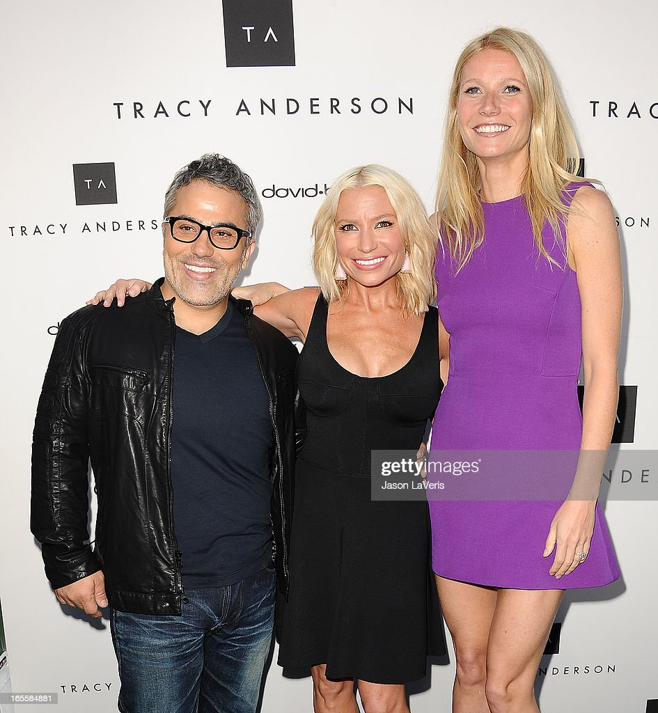 David Babaii, Tracy Anderson and Gwyneth Paltrow attend the opening of Tracy Anderson Flagship Studio on April 4, 2013 in Brentwood, California.