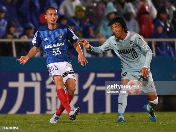 David Babunski of Yokohama FMarinos in action during the 97th Emperor's Cup quarter final match between Yokohama FMarinos and Jubilo Iwata at...