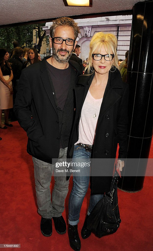 <a gi-track='captionPersonalityLinkClicked' href=/galleries/search?phrase=David+Baddiel&family=editorial&specificpeople=220869 ng-click='$event.stopPropagation()'>David Baddiel</a> (L) and Morwenna Banks attend a gala screening of 'The Heat' at The Curzon Mayfair on June 13, 2013 in London, England.