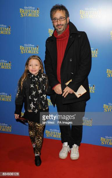 David Baddiel arrives at the premiere of Bedtime Stories at the Odeon cinema in Kensington central London