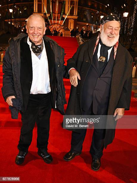 David Bailey and Bruce Weber attend The Fashion Awards 2016 at Royal Albert Hall on December 5 2016 in London United Kingdom