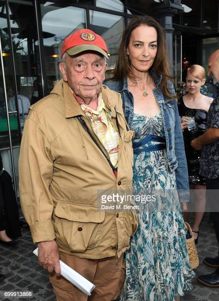 David Bailey and Catherine Bailey attend British Vogue editor Alexandra Shulman's leaving party at Dock Kitchen on June 22 2017 in London England
