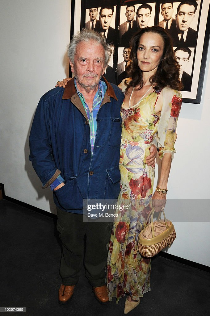 David Bailey and Catherine Bailey attend Hamiltons Gallery Exhibition of David Bailey 'Then' on July 6 2010 in London England