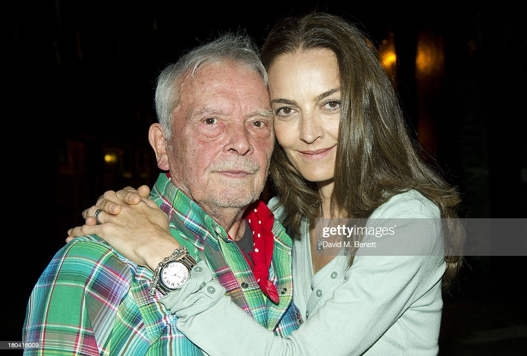David Bailey and Catherine Bailey attend the Bruce Weber x David Bailey by Nokia Lumia 1020 exhibition at the Nicholls Clarke Building on September...