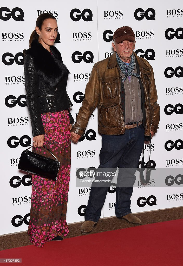 David Bailey and Catherine Bailey attend the GQ Men Of The Year Awards at The Royal Opera House on September 8 2015 in London England