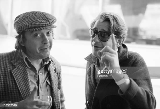 David Bailey and Helmut Newton British and GermanAustralian fashion photographers Monte Carlo Monaco 4th May 1978