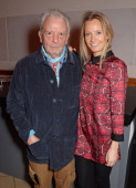 David Bailey and Martha Ward attend a private view of Bailey's Stardust a exhibition of images by David Bailey supported by Hugo Boss at the National...