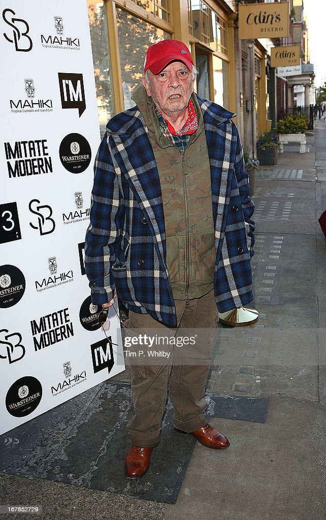 David Bailey attends the Human Relations private view at Imitate Modern on May 1, 2013 in London, England.