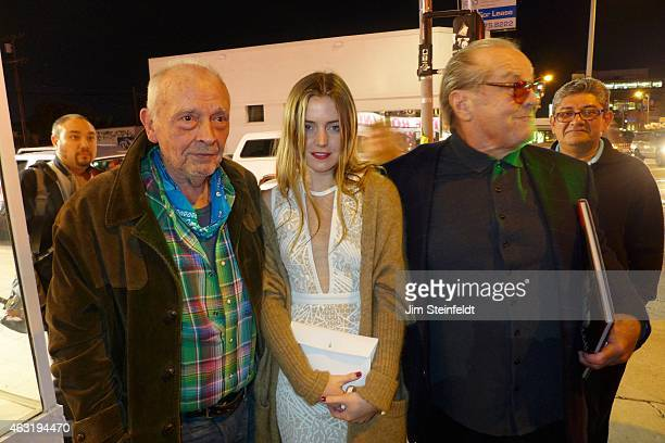 David Bailey Lorraine Nicholson and Jack Nicholson at the Taschen Gallery celebrating the photographs of The Rolling Stones and David Bailey in Los...