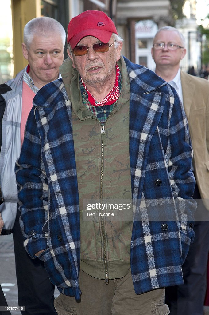 David Bailey sighted arriving at the Human Relations Private View on May 1, 2013 in London, England.