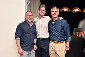David Baker Justin Martin and Glauco LolliGhetti attend Tom Dixon Celebrates New Store with Howard Street Party at The Shop New York on July 19 2016...