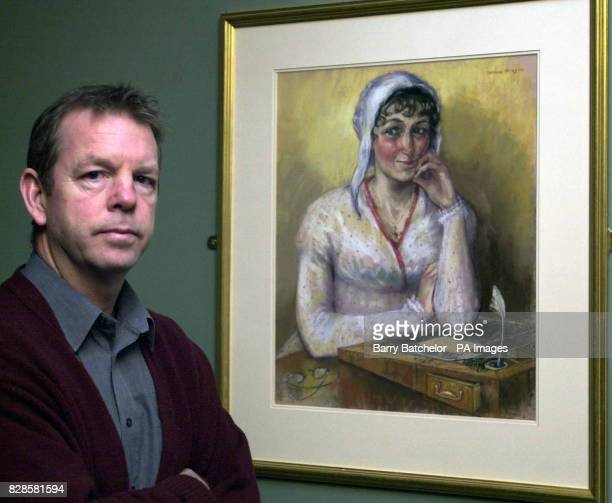 David Baldock Director of the Jane Austen Centre in Bath with a portrait which has been described as the most realistic likeness yet of the...