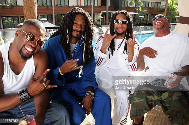 David Banner Snoop Dogg Lil Jon and Xzibit during KORN 'Twisted Transistor' Video Shoot featuring Snoop Dogg Lil Jon Xzibit and David Banner in Los...