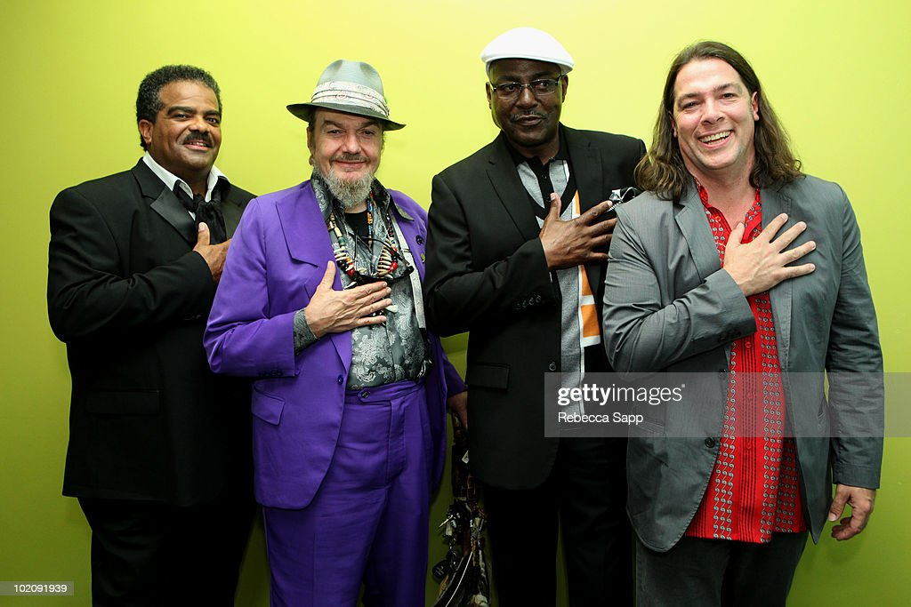 David Barard, Dr. John, Herman Roscoe Ernest III and John Fohl backstage at An Evening With Dr. John at The GRAMMY Museum on June 14, 2010 in Los Angeles, California.