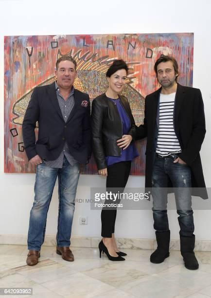 David Bardia Ursula Salvador and Jordi Molla present Jordi Molla's new painting exhibition at David Bardia Art Gallery on February 16 2017 in Madrid...