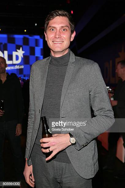 David Barnwell International Editor at Storyboard GmbH during the DLD16 party at BMW World on January 18 2016 in Munich Germany