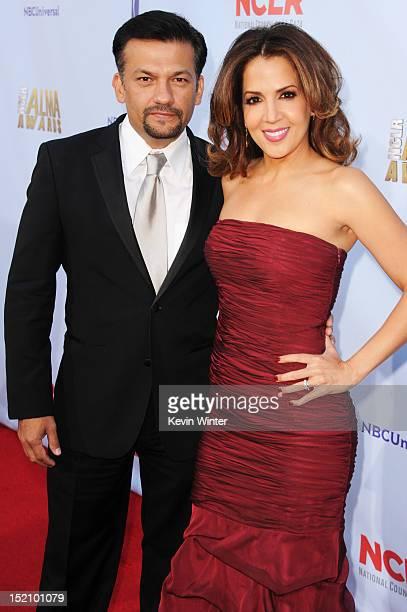 David Barrera and actress Maria Canals Barrera arrive at the 2012 NCLR ALMA Awards at Pasadena Civic Auditorium on September 16 2012 in Pasadena...