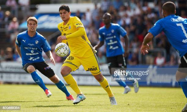 David Batanero of GIF Sundsvall during the Allsvenskan match between Halmstad BK and GIF Sundsvall at Orjans Vall on July 22 2017 in Halmstad Sweden