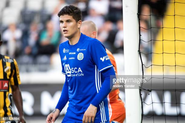 David Batanero of GIF Sundsvall looks on during the Allsvenskan match between BK Hacken and GIF Sundsvall at Bravida Arena on August 14 2017 in...