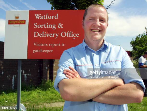 David Baulch from Watford and Chairman of the Watford Communications workers Union outside Watford Sorting and Delivery Office after workers agreed...