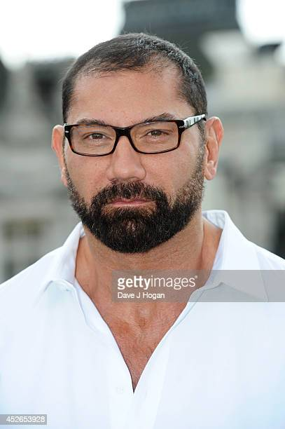 David Bautista attends a photocall for 'Guardians Of The Galaxy' at The Corinthia Hotel on July 25 2014 in London England