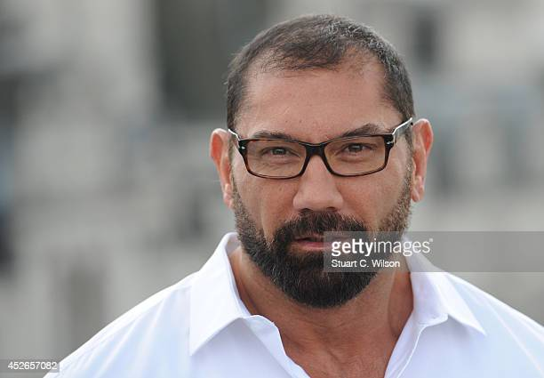David Bautista attends the 'Guardians of the Galacy' photocall on July 25 2014 in London England