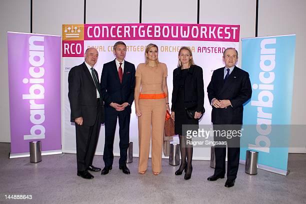 David Bazen Jan Raes Princess Maxima of the Netherlands Princess Mabel of the Netherlands and Pim Waldeck attend concert with the Dutch Royal...